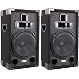 2) VM Audio DJ Passive Loud Speakers PA System