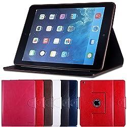 AirCase Premium Leather 360 Degree Rotatable Slim Portfolio Case with Magnetic Closure for Apple iPad Air (Coco Brown)