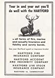 1949 Hartford Fire Insurance: Year In and Year Out, Hartford Fire Insurance Print Ad