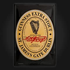 Original Guinness Label Metal Sign - Advertising