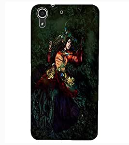 ColourCraft Lovely Lady Design Back Case Cover for HTC DESIRE 626