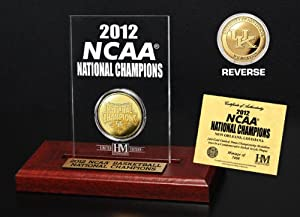 NCAA University of Kentucky 2012 NCAA National Champions Gold Coin Etched Acrylic... by Highland Mint
