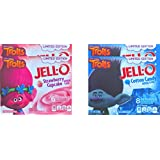 Jell-O Dreamworks Trolls Limited Edition Cotton Candy & Strawberry Cupcake Gelatin (Cotton Candy & Strawberry, 4)