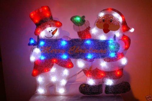 Christmas Concepts 70Cm Santa/Snowman With Banner Led Silhouette (Nl63)