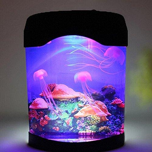CCrystal Colorful LED Jellyfish Aquarium Lamp Tank Sea World Mood Lamp Night light