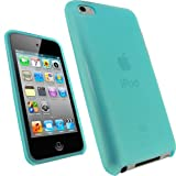 IGadgitz Blue Durable Crystal Gel Skin Case Cover (Thermoplastic Polyurethane TPU) for Apple iPod Touch 4th Generation 8gb, 32gb, 64gb + Screen Protector