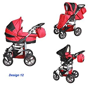 Amazon.com : Baby Stroller Travel System 3in1 Carlo C12 : Infant Car