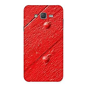 Red Texture Wood Print Back Case Cover for Galaxy J7
