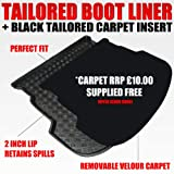 Peugeot 307 SW (2001 - 2007) Boot Liner Mat Tray with FREE Velour Insert worth £9.99