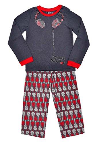 boys-oshkosh-pyjamas-grey-red-rockstar-print-top-fleece-bottoms