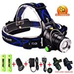 Mifine� Waterproof LED Headlamp with...
