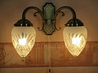 applique lampe luminaire murale int rieur style art nouveau 2 lumi res bronze 1 1 798 fr. Black Bedroom Furniture Sets. Home Design Ideas