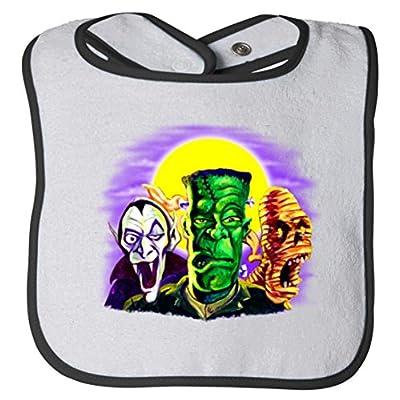 Frankenstein And Friends Halloween Baby Bib