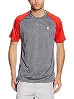 K-Swiss Camiseta Manga Corta Hypercourt (Gris / Rojo)