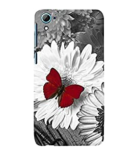 Vizagbeats Red Butterfly Back Case Cover for HTC Desire 826::HTC Desire 826 Dual