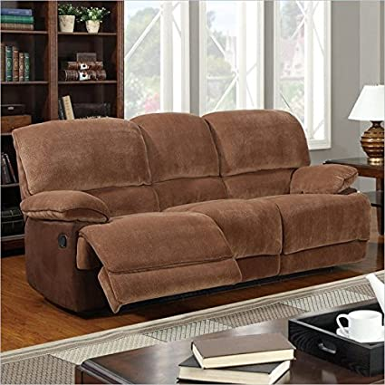Global Furniture Champion Reclining Sofa, Brown Sugar