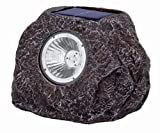 3 x Realistic Outdoor Garden Solar Rock Lights. LED Light