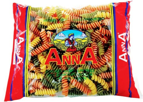 Anna Tricolor Fusilli 109, 1 Pound Bags (Pack of 12)
