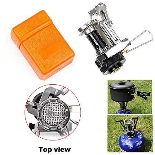 Outdoor Picnic Cookout Bbq Gas Burner Portable Camping Mini Steel Stove Case Cooker front-247188