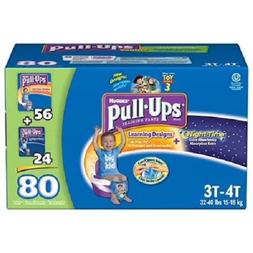 Huggies Pull-Ups® Boy Size: 3-4T; Quantity: 80 Day / Night Training Pants front-48855