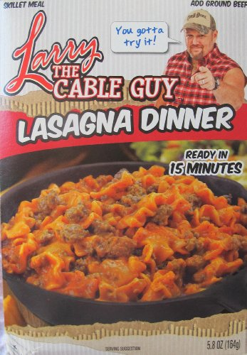 Larry the Cable Guy Lasagna Dinner...ready in 15 Minutes...5.8 Oz. Box...add Ground Beef...