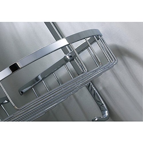 Kes bathroom triangular tub and shower caddy 2 tier wall mount sus304 stainless steel polished - Triangular bathtub ...