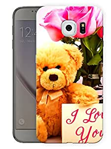 """Teddy I Love You Cute Printed Designer Mobile Back Cover For """"Samsung Galaxy S6"""" (3D, Matte, Premium Quality Snap On Case)"""