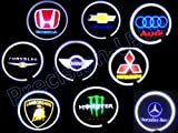 Car Led Door Logo Badge Light Ghost Shadow Light Led Car Decoration for Mitsubishi (Pair)