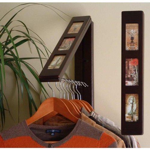 Instant Portable Closet O-T-D Hanging System Picture Frame Espresso Instahanger front-429213