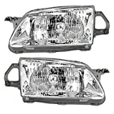 Driver and Passenger Headlights Headlamps Replacement for Mazda BJ0E-51-040A-P1 BJ0E-51-030A