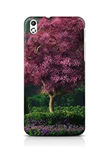 Amez designer printed 3d premium high quality back case cover for HTC Desire 816 (Landscape gardens flowers trees)