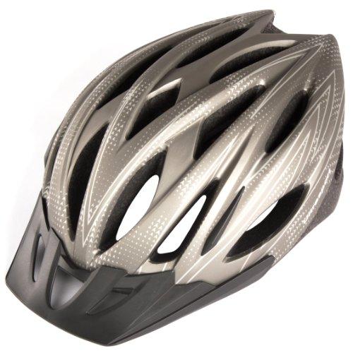 Ultrasport Casque de vélo Tours Noir Silber grau 54 - 58 cm d6ae8eff4584