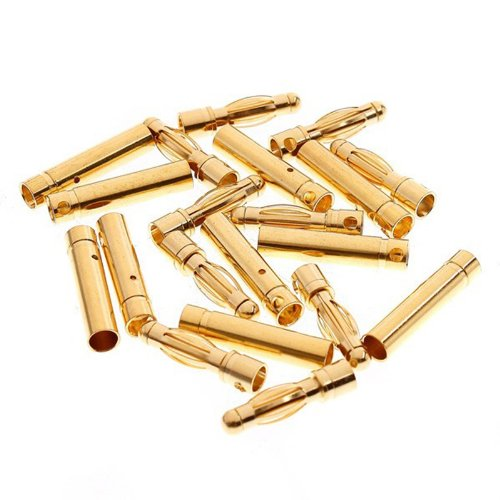 Generic 4.0mm 4mm Gold Bullet Connector Battery ESC Plug (Pack of 20 Pairs) - 1