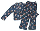 Outerstuff Chicago Bears Youth Raglan Flannel Pajama Sleep Set (Small) at Amazon.com