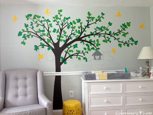 Pop Decors Wall Decal, Big Tree with Love Birds
