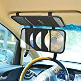 TFY Car Visor Organizer. Triple-layer, 30 CD/DVD Disk Storage Holder - Black