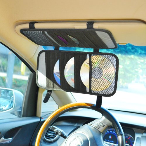 tfy-car-visor-organizer-triple-layer-30-cd-dvd-disk-storage-holder-black