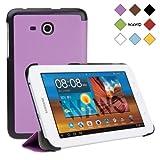 WAWO Samsung Tab 3 Lite 7.0 Inch Tablet Fold Case Cover - purple