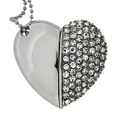 Satzuma 4GB Diamante Heart USB Flash Drive from Satzuma