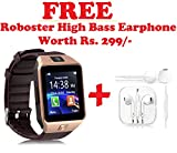 #7: Bluetooth Smart Watch Phone DZ09 With Camera and Sim Card Support With Apps like Facebook and WhatsApp Touch Screen Multilanguage Android/IOS Mobile Phone Wrist Watch Phone with activity trackers and fitness band Compatible With all Android Iphone Samsung Micromax Lenovo Xioami Mi HTC (Free Roboster High Bass Headset) - Assorted Color