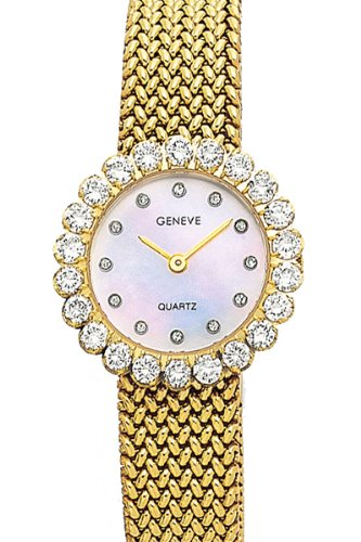 Euro Geneve 14K Gold Ladies Watch with 1.1 Carat Diamonds
