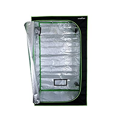 """Hydrobay 48""""x48""""x80"""" Mylar Grow Tent for Indoor Plant Growing 22mm Poles"""