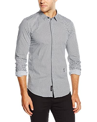Religion Men's Deco Long Sleeve Printed Shirt