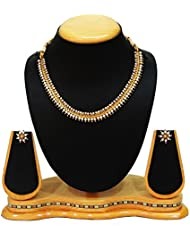 SatyamJewelleryNx Traditional Pearl Necklace Set For Women Fashion Jewellery