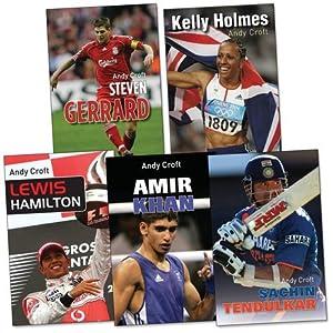 Sporting Heroes Pack 5 Books Rrp 3196 Amir Khan Kelly Holmes Lewis Hamilton Sachin Tendulkar Steven Gerrard by Barrington Stoke
