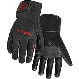 Steiner 0260-M SPS Ironflex TIG Gloves, Black Grain Kidskin Nomex Back Velcro Cuff, Medium
