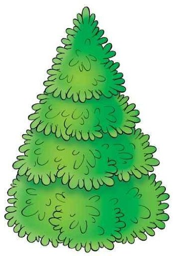 Animal Wall Decals Green Fur-Tree - 24 Inches X 16 Inches - Peel And Stick Removable Graphic front-673149