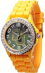 Officially Licensed Baylor University Collegiate Watch. Yellow Silicone Band with Baylor University Logo Face.