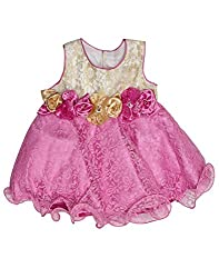 Babeezworld Baby Girl's Party Wear Frock (12-18 Months)