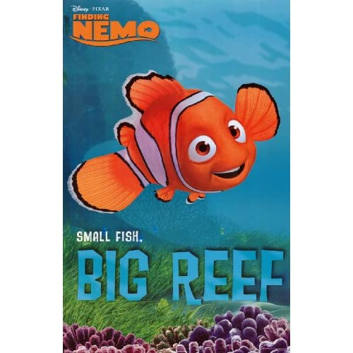 Finding nemo small fish big reef movie poster print 24 x 36 for Big fish screen printing
